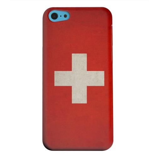 Geeks Designer Line (GDL) Apple iPhone 5C Matte Hard Back Cover - Grunge Switzerland