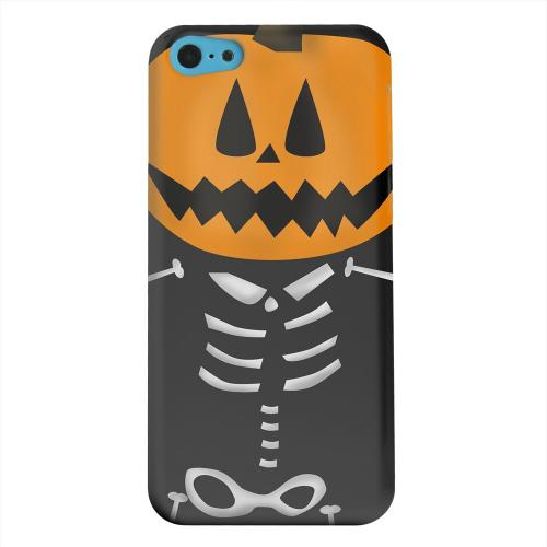 Geeks Designer Line (GDL) Apple iPhone 5C Matte Hard Back Cover - Skelton w/Jack O' Lantern Head