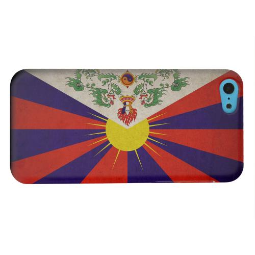 Geeks Designer Line (GDL) Apple iPhone 5C Matte Hard Back Cover - Grunge Tibet