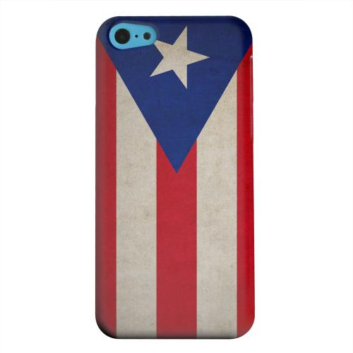Geeks Designer Line (GDL) Apple iPhone 5C Matte Hard Back Cover - Grunge Puerto Rico