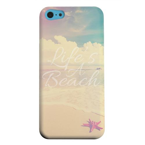 Geeks Designer Line (GDL) Apple iPhone 5C Matte Hard Back Cover - Life's A Beach