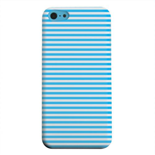 Geeks Designer Line (GDL) Apple iPhone 5C Matte Hard Back Cover - Blue/ White Stripes