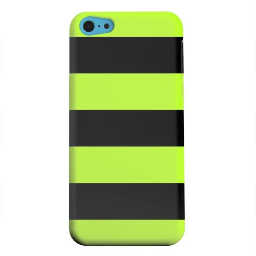 Geeks Designer Line (GDL) Apple iPhone 5C Matte Hard Back Cover - Colorway Black/ Flo Green