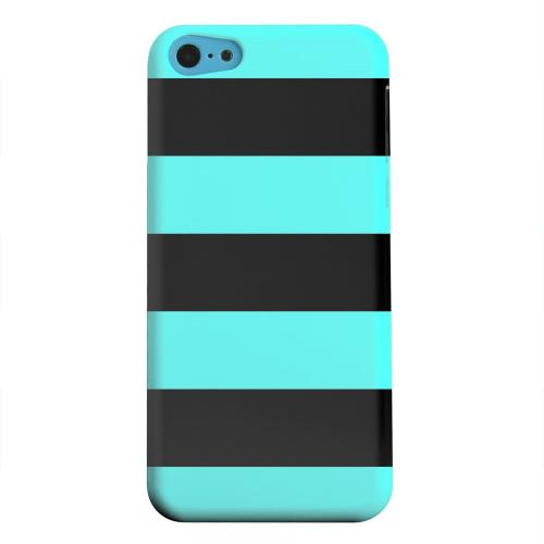 Geeks Designer Line (GDL) Apple iPhone 5C Matte Hard Back Cover - Colorway Black/ Teal