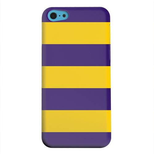 Geeks Designer Line (GDL) Apple iPhone 5C Matte Hard Back Cover - Colorway Purple/ Gold