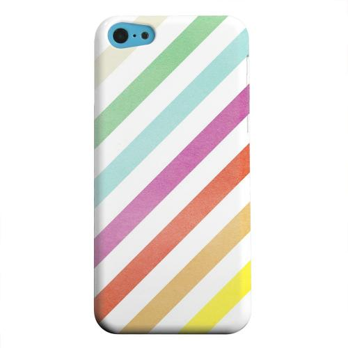 Geeks Designer Line (GDL) Apple iPhone 5C Matte Hard Back Cover - Dirty Diagonal Multi-Color