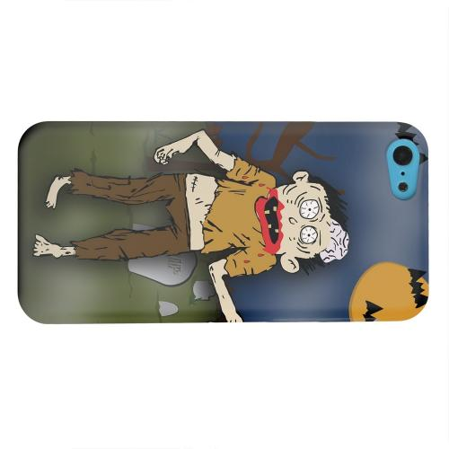 Geeks Designer Line (GDL) Apple iPhone 5C Matte Hard Back Cover - Zombie in Graveyard