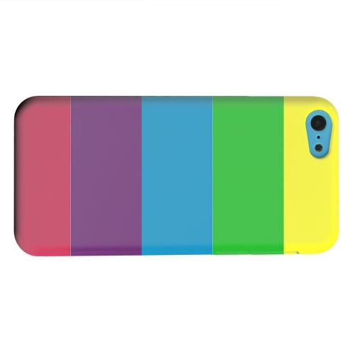 Geeks Designer Line (GDL) Apple iPhone 5C Matte Hard Back Cover - Rainbow Candy Stripes