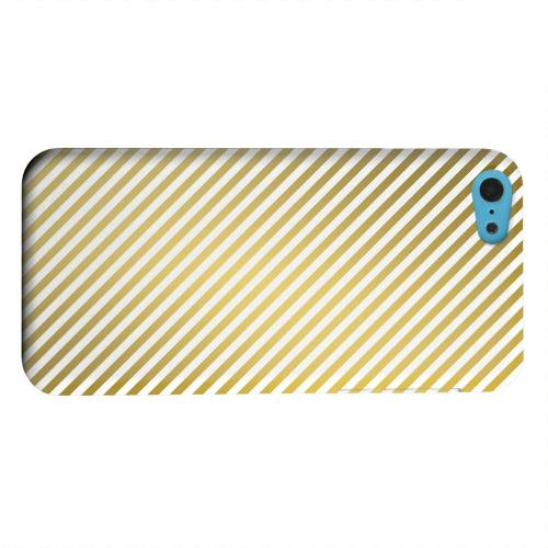 Geeks Designer Line (GDL) Apple iPhone 5C Matte Hard Back Cover - Thin Golden Diagonal