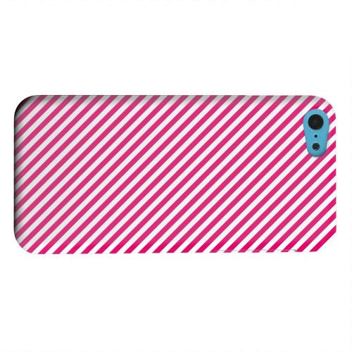 Geeks Designer Line (GDL) Apple iPhone 5C Matte Hard Back Cover - Thin Hot Pink Diagonal