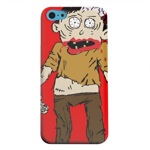 Geeks Designer Line (GDL) Apple iPhone 5C Matte Hard Back Cover - Zombie on Red
