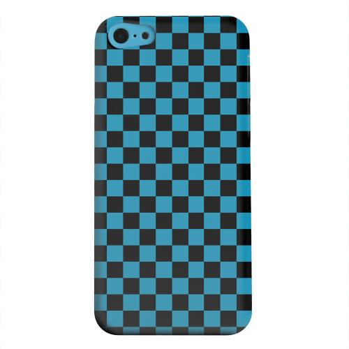 Geeks Designer Line (GDL) Apple iPhone 5C Matte Hard Back Cover - Aqua Blue/ Black
