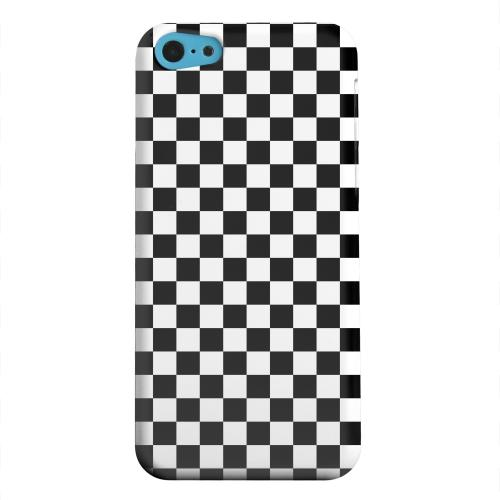 Geeks Designer Line (GDL) Apple iPhone 5C Matte Hard Back Cover - Black/ White