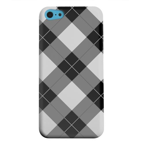 Geeks Designer Line (GDL) Apple iPhone 5C Matte Hard Back Cover - Black/ White/ Gray Plaid