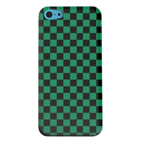 Geeks Designer Line (GDL) Apple iPhone 5C Matte Hard Back Cover - Green/ Black