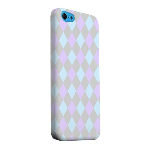 Geeks Designer Line (GDL) Apple iPhone 5C Matte Hard Back Cover - Gray/ Blue/ Purple Argyle