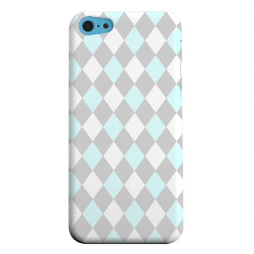 Geeks Designer Line (GDL) Apple iPhone 5C Matte Hard Back Cover - Pink/ Blue/ Gray Argyle