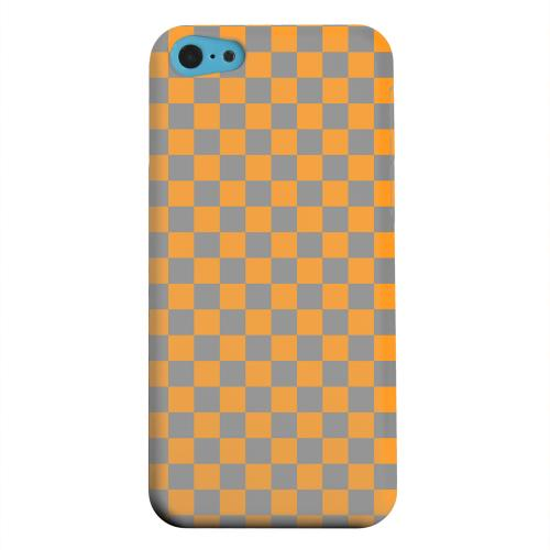 Geeks Designer Line (GDL) Apple iPhone 5C Matte Hard Back Cover - Orange/ Gray