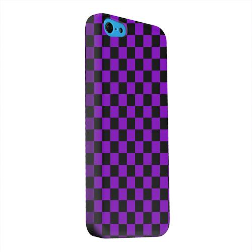 Geeks Designer Line (GDL) Apple iPhone 5C Matte Hard Back Cover - Purple/ Black