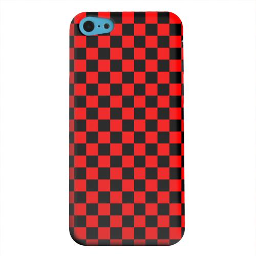 Geeks Designer Line (GDL) Apple iPhone 5C Matte Hard Back Cover - Red/ Black