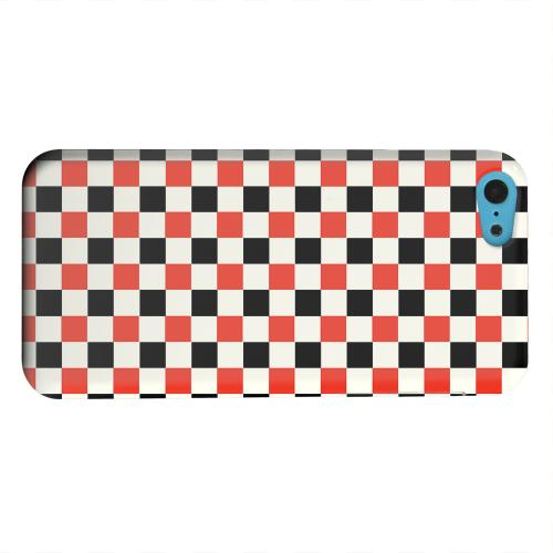 Geeks Designer Line (GDL) Apple iPhone 5C Matte Hard Back Cover - Red/ Black on Cream