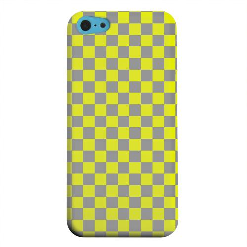 Geeks Designer Line (GDL) Apple iPhone 5C Matte Hard Back Cover - Yellow/ Gray