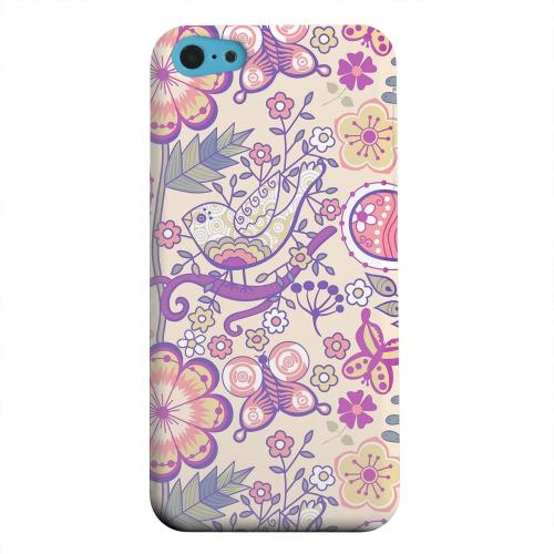 Geeks Designer Line (GDL) Apple iPhone 5C Matte Hard Back Cover - Birds, Hearts & Flowers