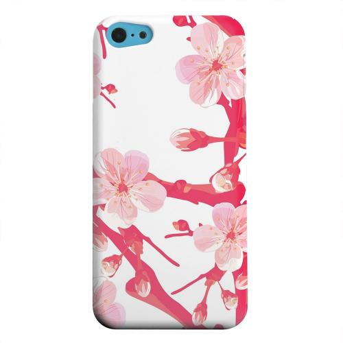 Geeks Designer Line (GDL) Apple iPhone 5C Matte Hard Back Cover - Hot Pink Cherry Blossom