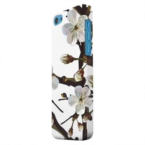 Geeks Designer Line (GDL) Apple iPhone 5C Matte Hard Back Cover - White Cherry Blossom