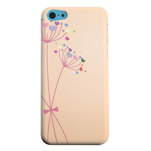 Geeks Designer Line (GDL) Apple iPhone 5C Matte Hard Back Cover - Dandelion Hearts