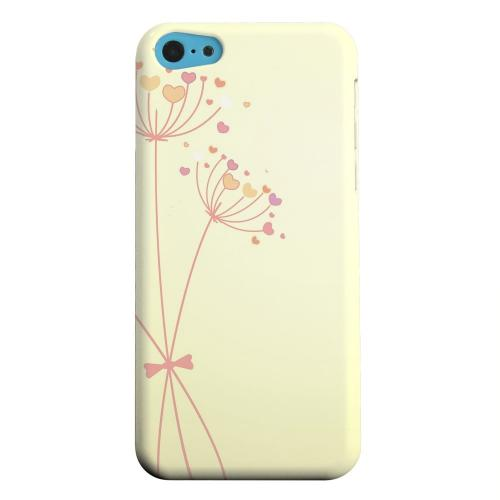 Geeks Designer Line (GDL) Apple iPhone 5C Matte Hard Back Cover - Dandelion Hearts on Yellow