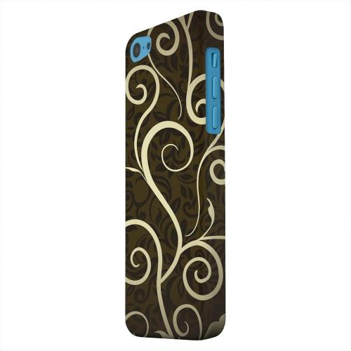 Geeks Designer Line (GDL) Apple iPhone 5C Matte Hard Back Cover - Elegant Dark Vines