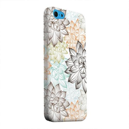 Geeks Designer Line (GDL) Apple iPhone 5C Matte Hard Back Cover - Floral Explosion