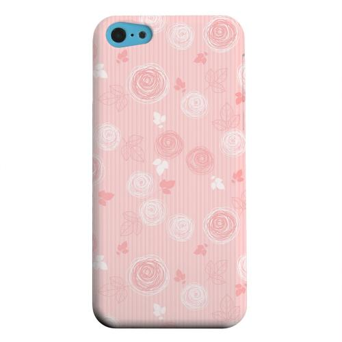 Geeks Designer Line (GDL) Apple iPhone 5C Matte Hard Back Cover - Leaves Scribble Pinkish