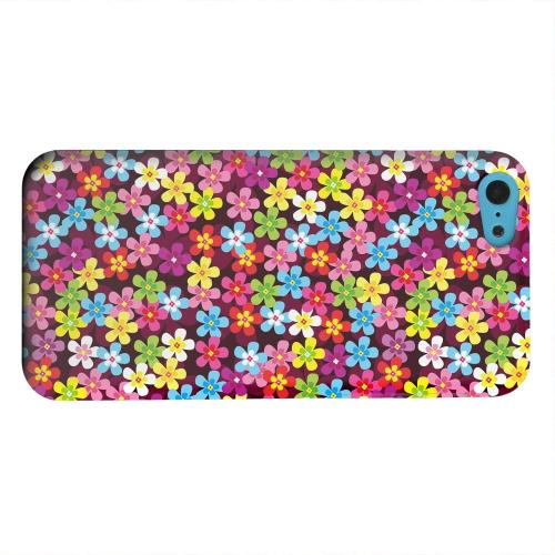 Geeks Designer Line (GDL) Apple iPhone 5C Matte Hard Back Cover - Multi-Colored Flowers