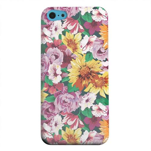 Geeks Designer Line (GDL) Apple iPhone 5C Matte Hard Back Cover - Pink/ Orange Flowers