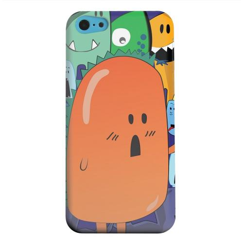 Geeks Designer Line (GDL) Apple iPhone 5C Matte Hard Back Cover - ZORGBLATS Orange Moob Close-Up