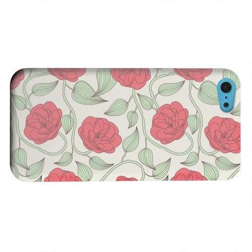 Geeks Designer Line (GDL) Apple iPhone 5C Matte Hard Back Cover - Roses & Vines