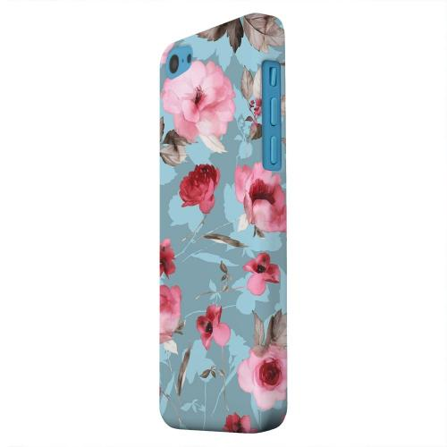 Geeks Designer Line (GDL) Apple iPhone 5C Matte Hard Back Cover - Vintage Watercolor Roses