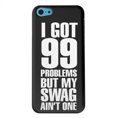 Geeks Designer Line (GDL) Apple iPhone 5C Matte Hard Back Cover - 99 Problems on Black