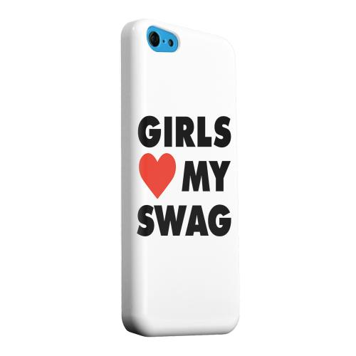 Geeks Designer Line (GDL) Apple iPhone 5C Matte Hard Back Cover - Girls Love My Swag