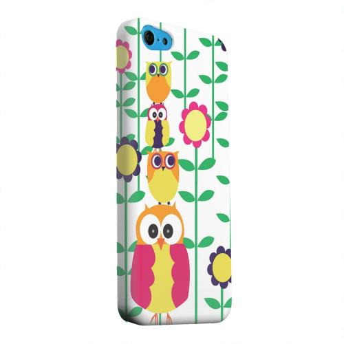 Geeks Designer Line (GDL) Apple iPhone 5C Matte Hard Back Cover - Colorful Owl Tower