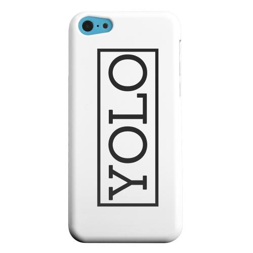 Geeks Designer Line (GDL) Apple iPhone 5C Matte Hard Back Cover - Black/ White YOLO