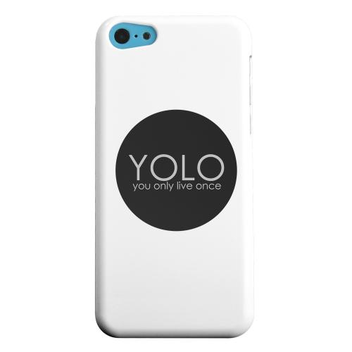 Geeks Designer Line (GDL) Apple iPhone 5C Matte Hard Back Cover - YOLO Circle