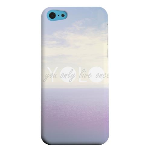 Geeks Designer Line (GDL) Apple iPhone 5C Matte Hard Back Cover - Filled YOLO