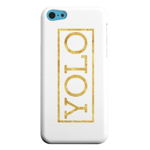 Geeks Designer Line (GDL) Apple iPhone 5C Matte Hard Back Cover - Gold YOLO