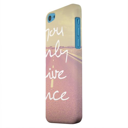 Geeks Designer Line (GDL) Apple iPhone 5C Matte Hard Back Cover - Open Road YOLO