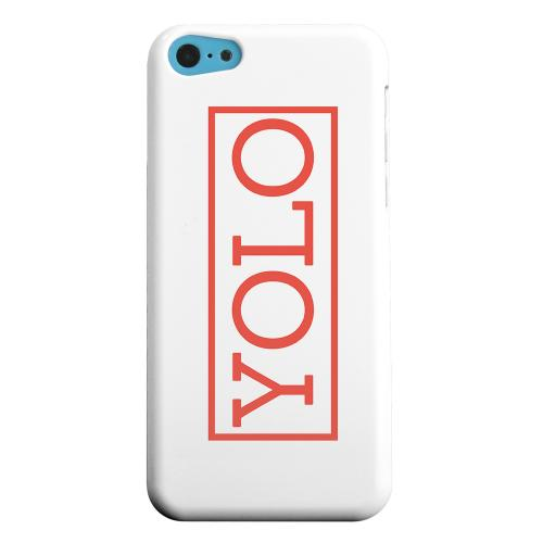 Geeks Designer Line (GDL) Apple iPhone 5C Matte Hard Back Cover - Red YOLO