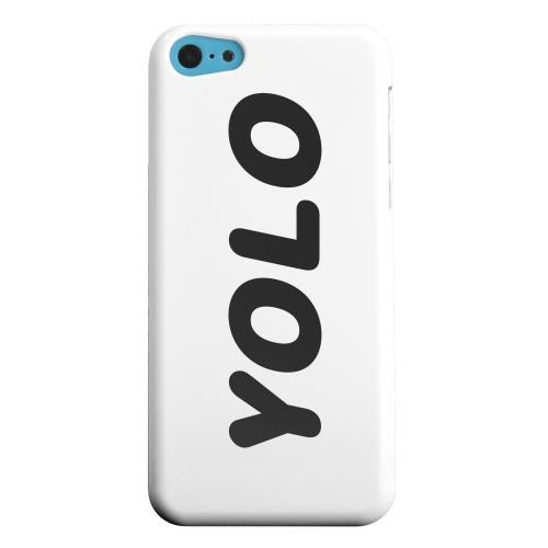 Geeks Designer Line (GDL) Apple iPhone 5C Matte Hard Back Cover - Rounded YOLO
