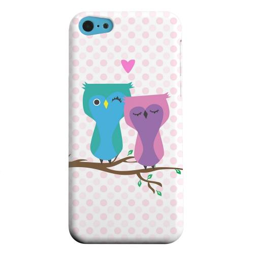 Geeks Designer Line (GDL) Apple iPhone 5C Matte Hard Back Cover - Owl Love You Forever